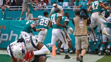 miracle in miami: the miami dolphins beat the new england patriots with a 'miracle' play