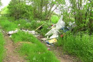 the disgraceful mess dumped at beauty spot and the fitting punishment dished out to man who did it