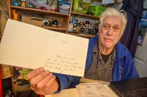 Christmas card calling grandfather's charity shop a '****hole' being treated as hate crime
