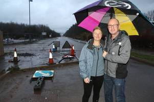 concerns raised over 'safety feature' in unlit area of new housing development after crash