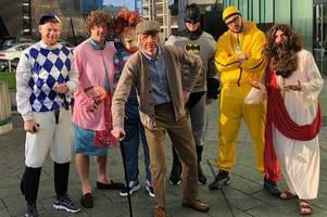 it's party time for potters as ali g, batman, jesus and mrs brown join the boys' christmas celebrations