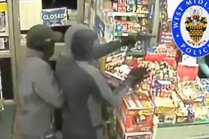 Watch: Horrifying moment shopkeeper held at gunpoint in botched robbery