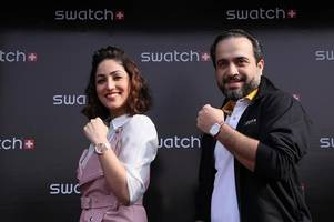 swatch showcases its fall winter collection 2018 with yami gautam