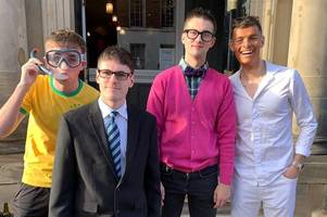 ayr united players pose as inbetweeners stars on hilarious christmas party night