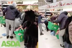 Manic Glasgow shoppers swoop like vultures on Asda bargain section in shock footage