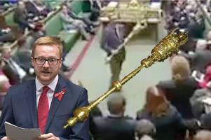 Watch Brexit commons chaos as Labour MP booted out for grabbing ceremonial mace in protest