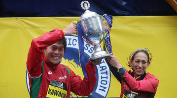 des linden, yuki kawauchi will return to 2019 boston marathon to defend titles