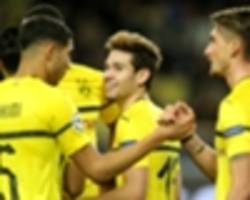 monaco 0 borussia dortmund 2: guerreiro double snatches top spot from atletico