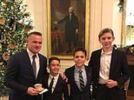 Barron Trump invites Wayne Rooney to White House Christmas reception