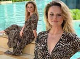 emily atack goes makeup free and shows off her freckles for glamorous post-jungle photoshoot