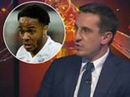 gary neville says raheem sterling asked him for advice on handling criticism during euro 2016