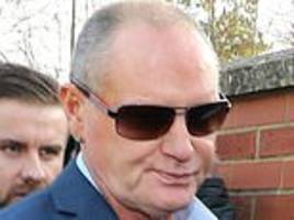 Paul Gascoigne arrives at court charged with sexually assaulting a woman on a train