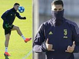 cristiano ronaldo and co hard at work as they look to claim top spot in group h away to young boys