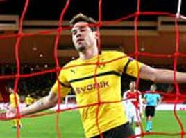 Monaco 0-2 Dortmund: Raphael Guerreiro scores twice as German side claim top spot in Group A