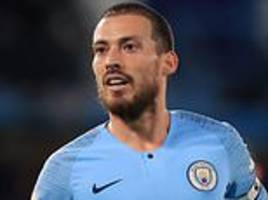 pep guardiola reveals man city star david silva could be out 'for a few weeks' with muscular injury