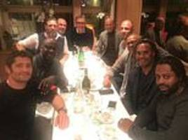 zinedine zidane reunites with world cup team-mates as france's 1998 champions meet for dinner