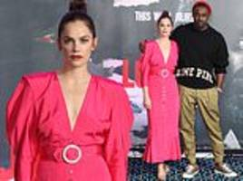 luther star ruth wilson joins handsome leading man idris elba at photocall for show's fifth series