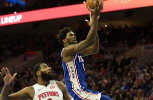 griffin sits as 76ers hand pistons their fifth straight loss, 116-102