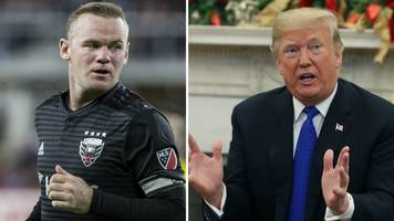 Wayne Rooney: DC United midfielder visits White House and meets Barron Trump