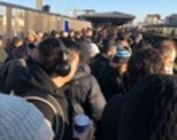 aspiring subway riders turned away from queens n/w station at rush hour