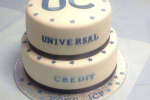Universal Credit outrage as roll-out celebrated by civil servants with CAKE