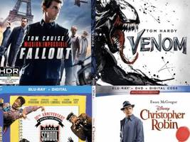 mission impossible: fallout, venom, school daze 30th anniversary & more must-own blu-ray movies