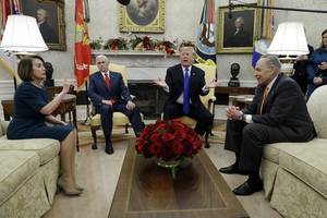 Trump Bickers With Democratic Leaders, Threatens Government Shutdown