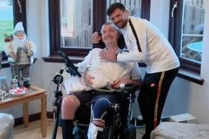 rangers hero nacho novo leaves fan with mnd 'buzzing' after paying him a visit