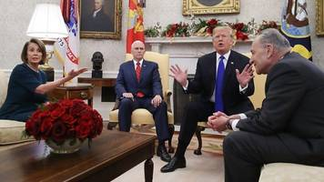 Democrats and Trump row in Oval Office