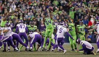 seahawks get away with bobby wagner's illegal field goal block in win over vikings