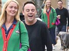 Ant McPartlin is bursting with joy during shopping trip with Anne-Marie Corbett and pet dog Hurley