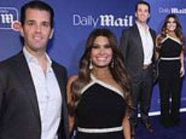 donald trump jr and kimberly guilfoyle at dailymailtv and dailymail.com holiday celebration in nyc