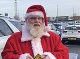 father christmas gets a parking ticket despite showing his blue disabled badge