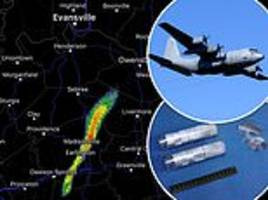 mystery of the strange blob that appeared on weather radar on a clear day is solved