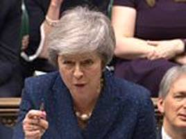 Theresa May warns Jeremy Corbyn he WON'T get general election at PMQs