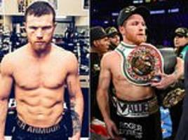 canelo alvarez looks stern-faced as he poses ahead fielding bout