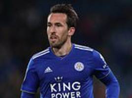 christian fuchs happy to stay at leicester despite emergence of ben chilwell for club and country