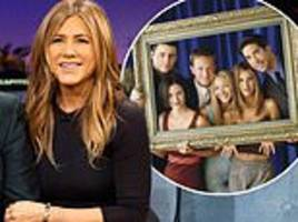 jennifer aniston admits that she would love a friends reunion but it's the boys who aren't too keen