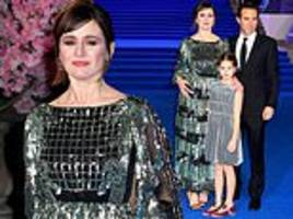 Mary Poppins Returns: Emily Mortimer attends with her husband Alessandro Nivola and daughter May