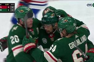 WATCH: Wild explode for 4 second period goals