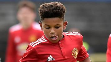 manchester united: shola shoretire becomes youngest uefa youth league player