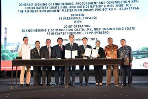pt rekayasa industri (rekind) together with joint operation awarded epc contract for the balikpapan rdmp project