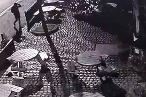 cctv catches bizarre vandalism of leicester pub the old horse's christmas tree lights