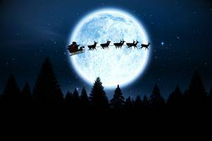 when to see 'santa' making test flights before christmas - or is it the iss?