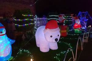 'it's amazing' - the home near lincoln lit up with more than 50,000 christmas lights