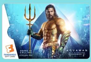 fandango app: win your own limited edition aquaman gift card