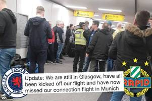Rangers fans hit by Glasgow Airport flight chaos as group of 'drunken dafties' thrown off plane