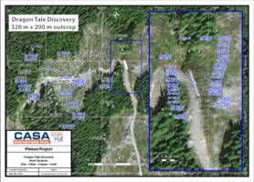 casa minerals inc. discovers 231 g/t silver, 6.15% zinc and >1.0%* copper in strong zone of zinc-silver-copper mineralization located 1 km south of golden dragon discovery on pitman project