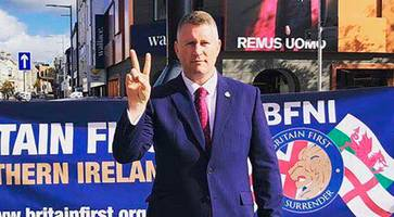 britain first leader golding in northern ireland court over 'stirring up hatred' charges