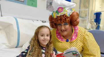 watch: jack and the beanstalk cast bring panto cheer to royal belfast hospital for sick children